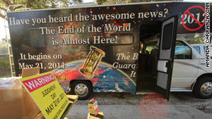 "Caravans of RVs are crisscrossing the country spreading the ""awesome news"" of the end of the world."