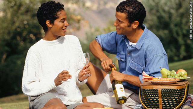 A man who packs a delicious picnic for two is someone who will invest in romance, author says.