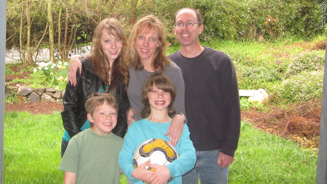 Author Jennifer Eyre White with her very busy and athletic family.