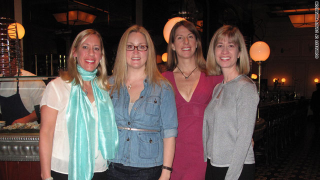 Stacy Morrison (second from left in blue shirt) and her girlfriends enjoy a Las Vegas getaway.