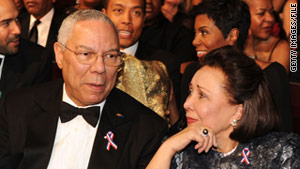 Former Secretary of State Gen. Colin Powell and his wife Alma at the NAACP Image Awards in March.