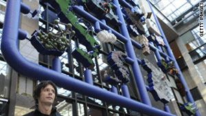 """David Cerny (seen here) created """"Entropa,"""" a huge map where each nation is represented as a stereotype."""
