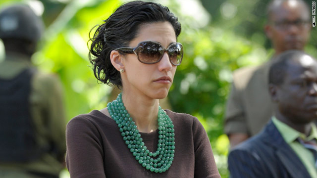 Huma Abedin attends an event in Tanzania while traveling as an aide to Secretary of State Hillary Clinton.