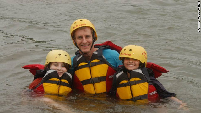 Todd Buchholz's daughters, Katherine and Alexia, went whitewater rafting for the first time after their dad encouraged them.