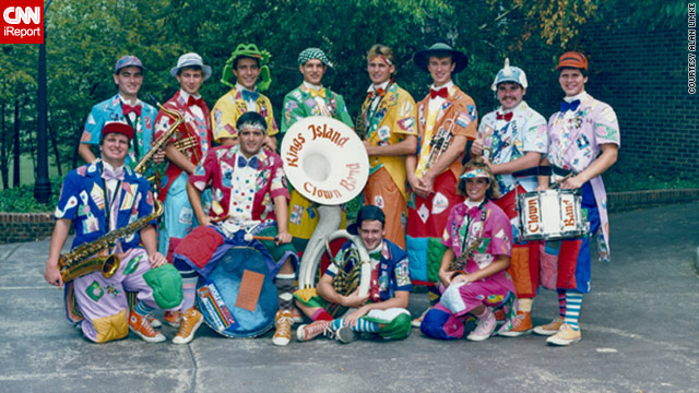Alan Limke had the time of his life in an amusement park clown band (see the young man in the sideways green hat).