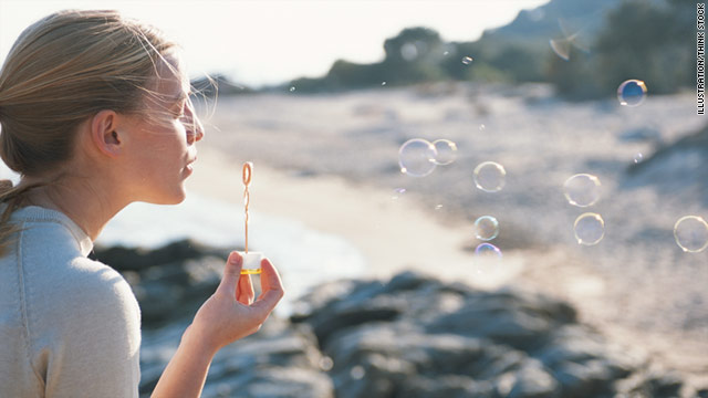 Feeling down? Blowing bubbles may lift your spirits right back up.