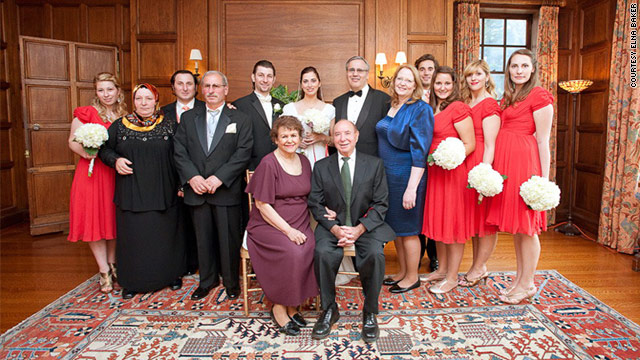 Elna Baker shares a photo of her newly expanded family on the day of her sister's wedding.