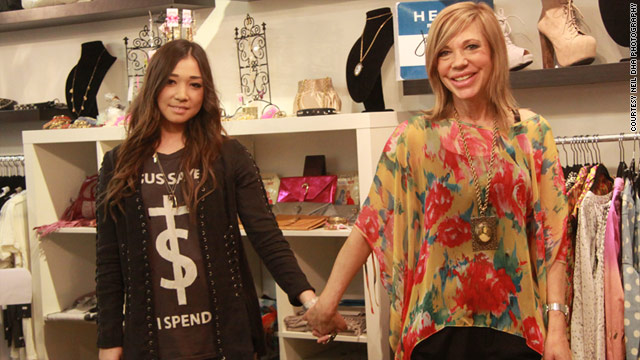 Jennifer Gray, right, and her daughter, Shaughnessy Chow-Domos, 18, own a boutique in British Columbia and share clothes.