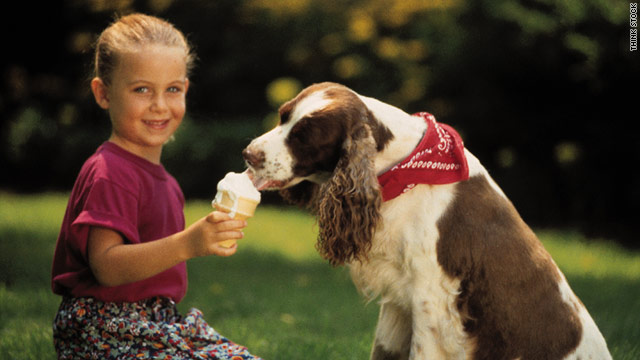 If your dog is in need of a frozen treat, give him a frozen marrow bone instead of an ice cream cone.