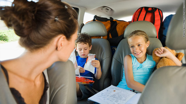 Sometimes moms can face big questions while driving kids around.