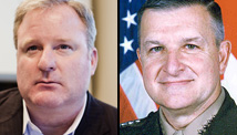 Chris Taylor, left, and retired Gen. Anthony Zinni endorse the MARO Project protocols.