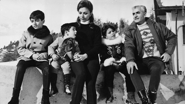 Iran's Pahlavi family on a Swiss holiday in 1969: from left, Reza, Alireza, Queen Farah, Farahnaz and Shah Mohammad Reza.