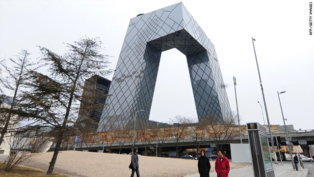 The Chinese Central TV building in Beijing, formally opened in 2008, is still unoccupied, says David Frum.