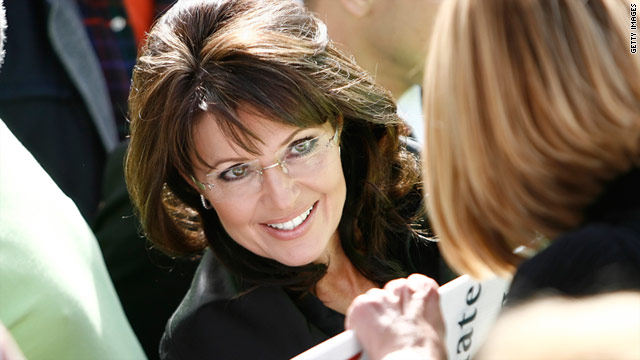 Former Alaska Gov. Sarah Palin campaigns in October 2010 for a Republican candidate for U.S. Senate.