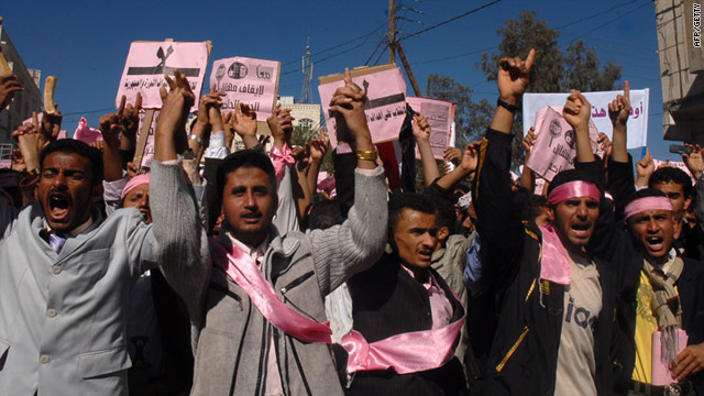 Yemenis have already taken to the streets of Sanaa to call on President Ali Abdullah Saleh -- in post since 1978 -- to quit.