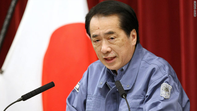 Japanese Prime Minister Naoto Kan speaks about the nuclear plants damaged by a severe earthquake and tsunami.