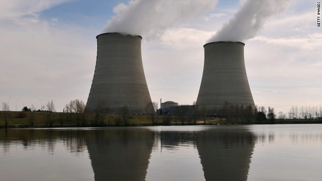 A nuclear plant along the Loire river in Belleville-sur-Loire, France.