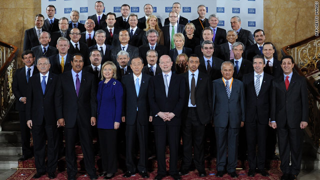 Delegates from more than 35 nations, including seven Arab states, heads of U.N. and NATO met at London Conference on Libya.