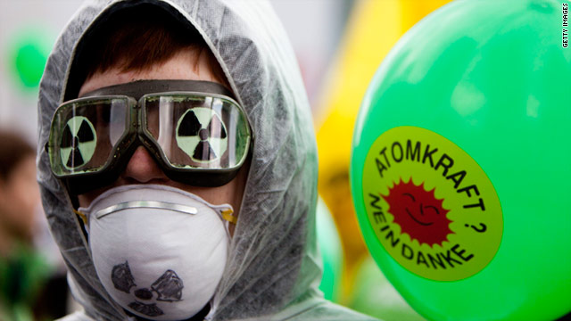 A German anit-nuclear protester makes his position clear. But can the world do without nuclear power?