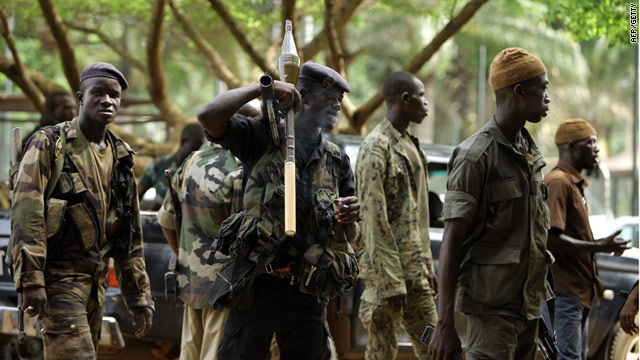 Forces loyal to Ivory Coast's internationally recognized president Alassane Ouattara pictured. in Abidjan on April 6, 2011.