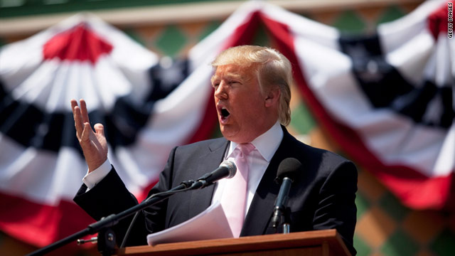 Donald Trump speaks to the Palm Beach County Tax Day Tea Party on April 16  in Boca Raton, Florida.