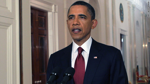 President Barack Obama announces the killing of Osama bin Laden from the White House on Sunday night.