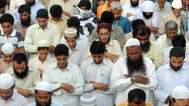 Hundreds of Pakistani Jamaat-ud-Dawa activists prayed in Karachi for Osama bin Laden, whom they regard as a martyr.