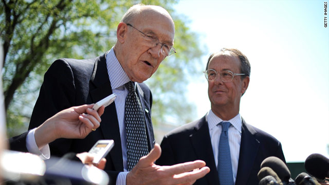The deficit-reduction panel, led by Alan Simpson, left, and Erskine Bowles, laid out a plan for fiscal responsibility, the writers say.