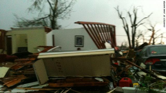 Little remained of John Hunter's house after a tornado swept through Joplin, Missouri last Sunday.
