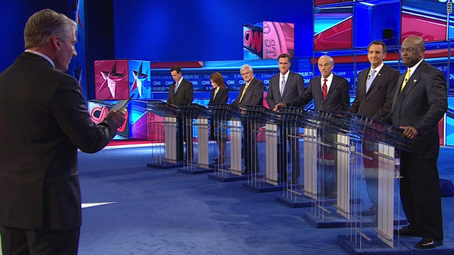 Seven candidates took part in a debate Monday on CNN, moderated by John King.