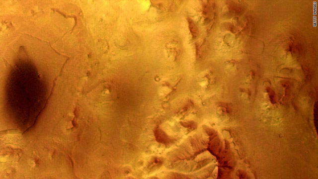 Photo by Mars Express in 2004 shows features of the planet indicating erosion that appeared to be caused by flowing water.