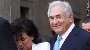 Former IMF director Dominique Strauss-Kahn is accused of sexual assault.