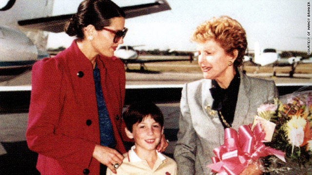 Betty Ford is met by Nancy Brinker and son Eric on her arrival in Dallas in 1982 to help launch the Susan G. Komen Foundation