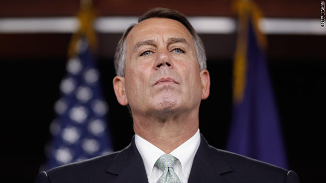 House Speaker John Boehner holds press conference July 15 after meeting with GOP caucus on the debt ceiling negotiations.
