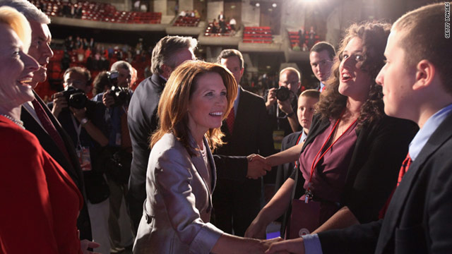 Journalist Byron York asked presidential candidate Michele Bachmann if she would be submissive to her husband as president.