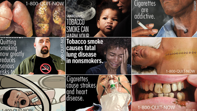 The U.S. Food and Drug Administration has mandated use of nine new warning labels on cigarette packs.
