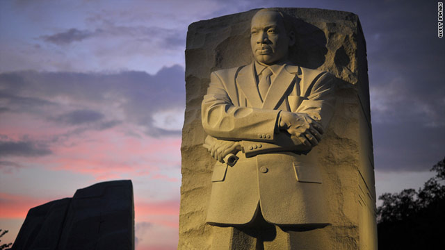 The dedication of the Martin Luther King Jr. Memorial in Washington was postponed because of Hurricane Irene.