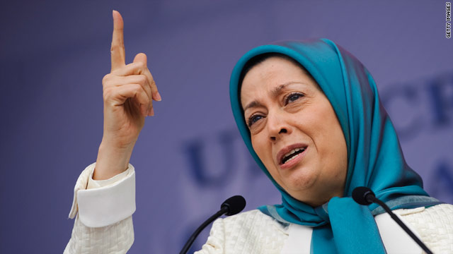 Maryam Rajavi urges protection of Camp Ashraf, Iraq, on August 8. She and her husband, Massoud, are the leaders of MEK.