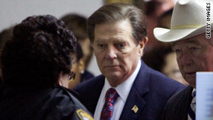 Former House Majority Leader Tom DeLay was sentenced Monday to serve three years in prison.