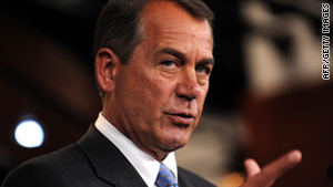 House Speaker John Boehner has scheduled a floor debate on repealing health care for Tuesday and a vote the next day.