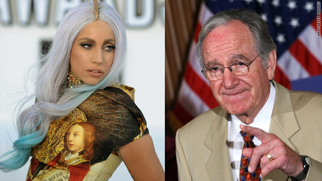 Sen. Tom Harkin, D-Iowa, is using singer Lady Gaga to raise some money.
