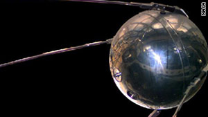 The launch of Sputnik 1 in 1957 marked the start of the space age and the U.S.-U.S.S.R space race.