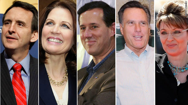 Tim Pawlenty, Michele Bachmann, Rick Santorum, Mitt Romney and Sarah Palin have been mentioned as potential candidates.