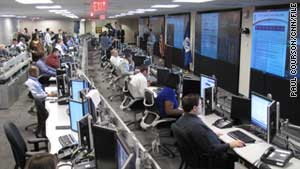 Simulated electronic attacks were planned at the National Cybersecurity and Communications Integration Center.
