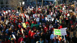 And an estimated 55,000 people turned out for Saturday rallies at the capitol.