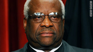 """One thing I've demonstrated ...is you can do this job without asking a single question,"" Justice Clarence Thomas said."