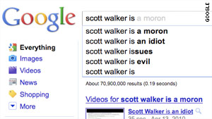 "Googling ""Scott Walker is"" turns up some pretty interesting responses."