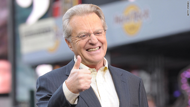 Jerry Springer, a one-time Democratic mayor, is defending Sarah Palin.