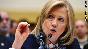 Secretary of State Hillary Clinton defends her department's $47 billion budget request in Congress.