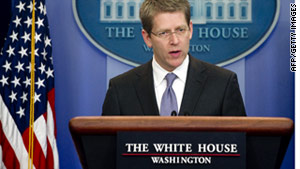 White House press secretary Jay Carney says the president called the House speaker to discuss the bill before the vote.